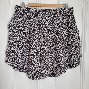 Banana Republic Leopard Print Circle Skirt